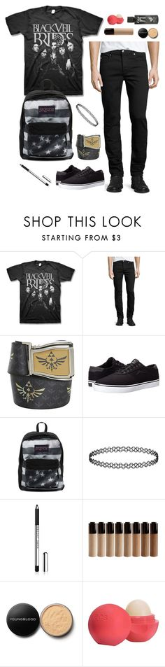"""""""This is exactly what I'm wearing tomorrow :3 I love my belt XD I literally wear it everyday"""" by xx-prince-gumball-xx ❤ liked on Polyvore featuring McQ by Alexander McQueen, Lakai, JanSport, Youngblood, Eos and PrinceGumballsCloset"""