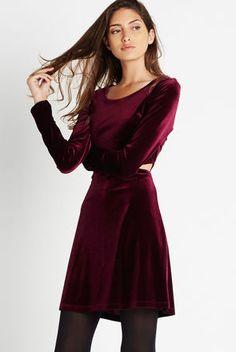 Flared Velvet Dress