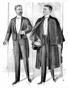 "Gentleman Harper's Bazar, June 27, 1891. I'd love to have Dracula in this overcoat to be his ""cape"" that we see in depictions of him"