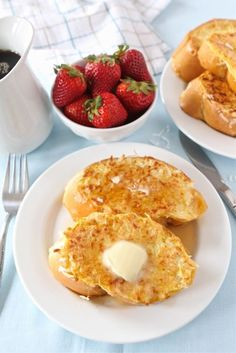 Coconut Crusted French Toast Recipe on twopeasandtheirpod.com The coconut makes this French toast extra special!