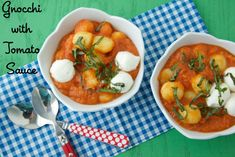 Make your own quick tomato sauce to go with your favorite prepackaged gnocchi for a fast and fun family dinner!