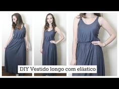 Aprenda a costurar Vestido longo de alcinha com elástico   Amigas que fazem a moda - YouTube
