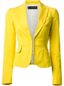 Shop for cropped blazer by at ShopStyle. Now for Sold Out. Yellow Blazer, Hijab Style, Cropped Blazer, Blazer Outfits, Look Chic, Work Attire, Work Casual, Blazers For Women, Clothes