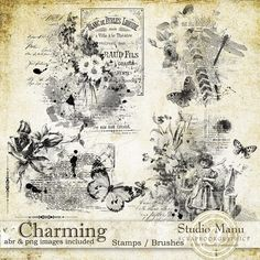 Charming - Stamps by Manuela @ Scrapbookgraphics