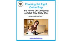 Book Cover Choosing the Right Online Prep