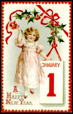 Great online collection of vintage postcards.  My Fanciful Muse: Happy New Year - Vintage Raphael Tuck & Sons Images
