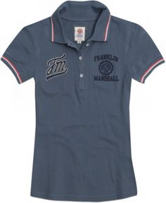 """Polo shirt in stretch cotton pique with """"""""Franklin Marshall"""""""" logo"""