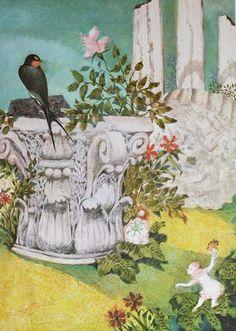 "Jiří Trnka - illustration to H. C. Andersen's ""Thumbelina""  BEAUTIFUL!"