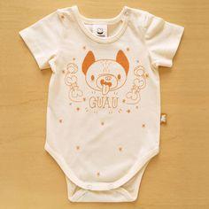 Body Perro. Algodón 100% orgánico. Talles recién nacido, 0 a 3 meses y 3 a 6 meses.