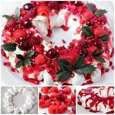 Creative Ideas – DIY Mixed Berry Christmas Pavlova #DIY #food #recipe #Christmas