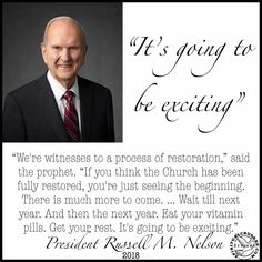 This is such an exciting time to be alive! I can't adequately express how excited I was about this quote. To think of all the recent changes and then to know that there is so much more to come brin… Prophet Quotes, Gospel Quotes, Christ Quotes, Church Quotes, Lds Quotes, Religious Quotes, Jesus Quotes, Uplifting Quotes, Lds Conference