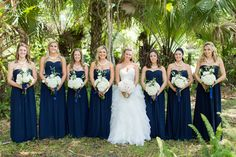 Navy Bridesmaid dresses, desireedawnevents.com, photo by Thompson Photography Group