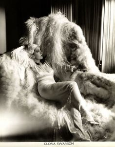 Gloria Swanson personifying the very word glamour.