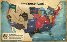 "Nike Baseball Shoes & Apparel: ""CONTINENT MAP"" Outdoor Advert by ..."