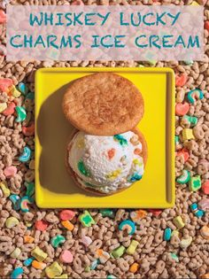 How To Make Whiskey Lucky Charms Ice Cream:   Ingredients  Plain Custard Base (recipe above)  1⁄4 cup Bushmills or Jameson Irish whiskey  3⁄4 cup Lucky Charms cereal