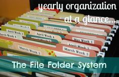 yearly organization at a glance :: the file crate system » @Daniele @ Domestic Serenity