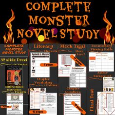 Complete Monster Novel Study by Walter Dean Myers