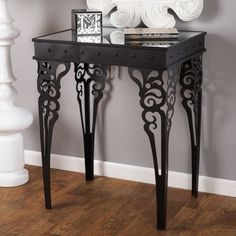 Love the legs on this table!   Find it at the Foundary - Marianne Table Mirrored Top