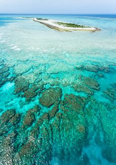 Deserted atoll island, fringing coral reef, clear blue water (and lots of fish) from the sky, Japan | by Ippei & Janine Naoi