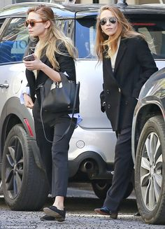 Stepping out: Ashley, left, and Mary-Kate Olsen popped out in search of coffee from a Star...