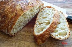 No-Knead Bread — Pixels + Crumbs Knead Bread Recipe, No Knead Bread, Honey Oat Bread, Banana Bread, Special Bread Recipe, Bread Recipes, Cooking Recipes, No Rise Bread, Kolaci I Torte