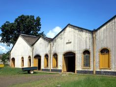 Cocoa is processed and stored in this warehouse at Roça Agua Izé on Sao Tome Island, São Tomé and Príncipe.