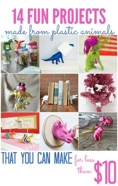 14 Fun Projects Made from Plastic Animal Toys (that you can make for less than $10!) - All Cheap Crafts