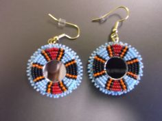 beaded earrings native american by deancouchie on Etsy, $30.00