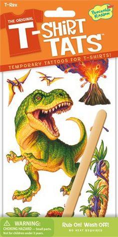 PEACEABLE KINGDOM T-Shirt Tattoo Textil Tattoo T-Rex Dino - lohnende Bonuspunkte sammeln, auf Rechnung bestellen, DHL Blitzlieferung!