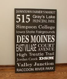 DIY Subway Art - Show pride for your home city with a personalized Subway Art sign with all your favorite places.