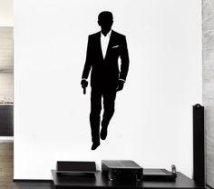 Wall Sticker Vinyl Decal James Bond Agent 007 CIA FBI Secret Agent  (z1033m)