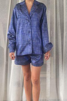 Blue Curacao Silk Pyjamas