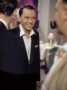 """Frank Sinatra on the set of """"Pal Joey"""", 1957 Golden Age Of Hollywood, Hollywood Stars, Classic Hollywood, Old Hollywood, Joey Bishop, Sammy Davis Jr, Dean Martin, Old Movies, Classic Movies"""