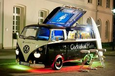 Vw, volkswagen, kombi, transporter, bus, Mobile cocktail bar