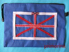 Portafolios de bandera inglesa, para una profesora de inglés