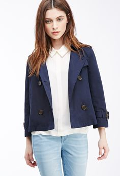 Cropped Trench Coat | Forever 21 - 2000079567