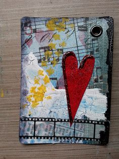 Use Cling or Rubber Stamps: Altered playing card for a swap Atc Cards, Journal Cards, Card Tags, Junk Journal, Playing Card Crafts, Playing Cards, Altered Books, Altered Art, Art Trading Cards