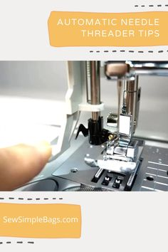 How to use the automatic needle threader on your sewing machine. What to do when the automatic needle threader isn't working and why. This video shows a close up of how the automatic needle threader works on my Brother sewing machine, and explains about the tiny hook that goes through the eye of the needle. I share tips with you to make the needle threader work first time every time. Easy sewing tips for beginners. How to use a sewing machine. Sewing Lessons, Sewing Tips, Sewing Hacks, Sew Simple, Simple Bags, Easy Sewing Patterns, Bag Patterns To Sew, Brother Sewing Machines, Lessons For Kids