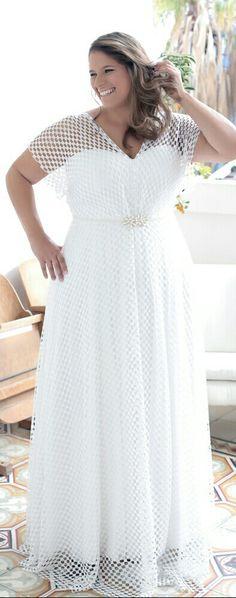 Boho chick vintage lace plus sizewedding dress from Studio Levana