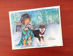 https://flic.kr/p/C7CuNk | Peace | This was the second card to arrive. It is a sweet composition made by Dewi Lam. Do you know that Dewi draws and color some of her images?