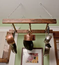 mini ladder pot rack