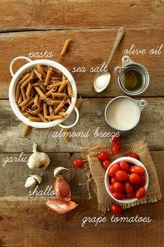 Dairy Free Creamy Garlic Pasta Recipe