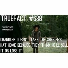 True Fact haha they can't trust chandler lol