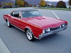 1966 Olds 442. Identical to my second high school hot rod. Memories...