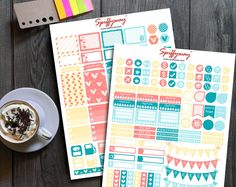 Pastel Planner Stickers Kit  Printable Stickers Set  by Spiffyway https://www.etsy.com/listing/257010414/pastel-planner-stickers-kit-printable?ref=related-6