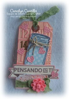 Latina Crafter - Sellos en Español: Set Amiga Vintage Banner, Latina, Handmade Cards, Jars, Scrap, My Love, Color, Ideas, Design