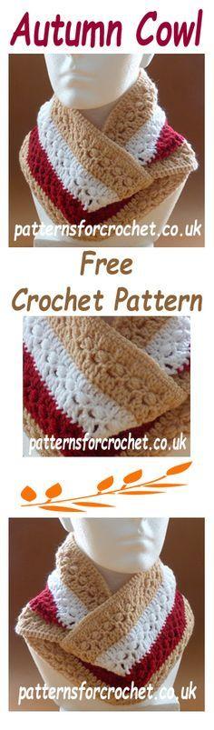Free crochet pattern for autumn cowl. #crochet