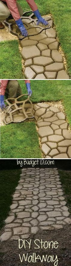 DIY Faux Stone Walkw