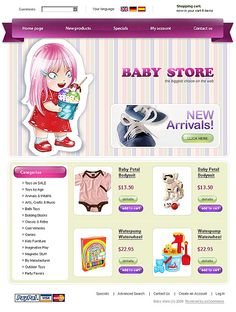 Baby Store osCommerce Templates by Di