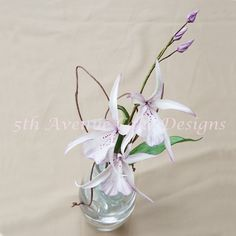 learn how to make flower paste orchids